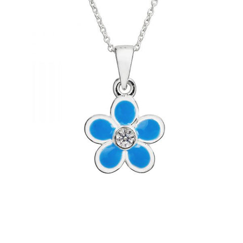 Children's Blue Flower Necklace - pixi-daisy