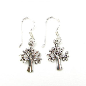 Tree - Sterling Silver Fish Hook Earrings - pixi-daisy