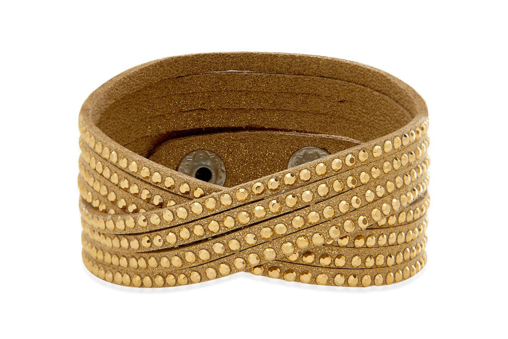 BoHo Betty Foxglove Gold 2 Wrap Bracelet - pixi-daisy