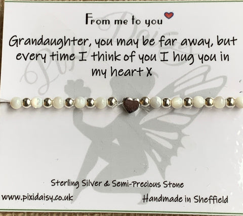 Grandaughter Stretch Semi Precious Stretch Bracelet