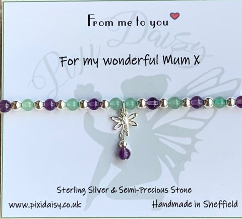 For My Wonderful Mum Stretch Sentiment Bracelet