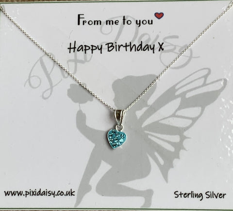 Happy Birthday Sterling Silver Sentiment Necklace - pixi-daisy