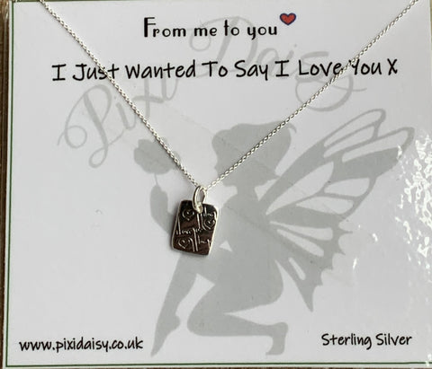 I Love You Sterling Silver Necklace - pixi-daisy