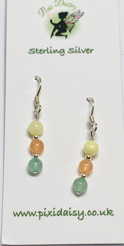 Adventurine and Jade Dangly Earrings - pixi-daisy