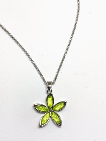 Miss Milly Lime Green Flower Necklace