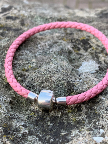 Pink Leather Cord Bracelet - pixi-daisy