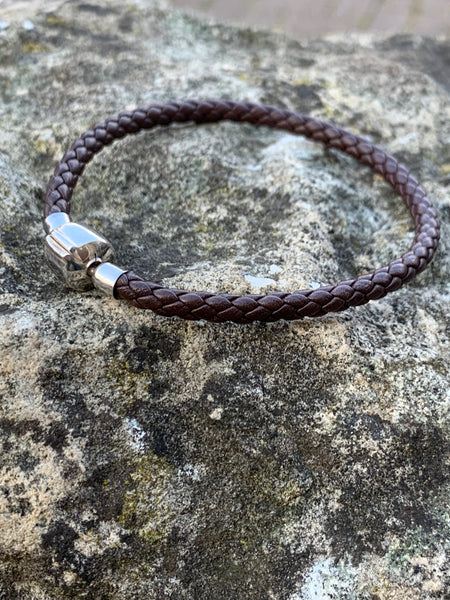 Brown Leather Cord Bracelet - pixi-daisy