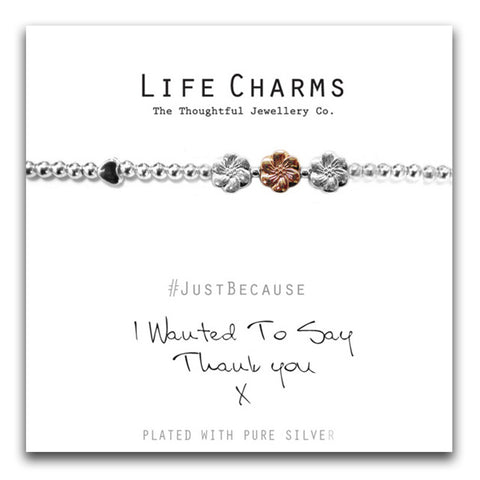 Life Charms I wanted to say thank you  bracelet - pixi-daisy