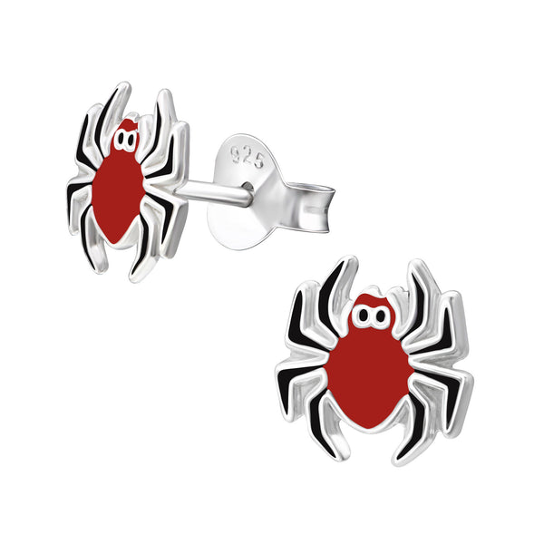 Red Spider Ear Studs - Pixi Daisy