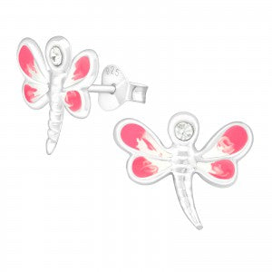 Dragonfly Sterling Silver Ear Studs