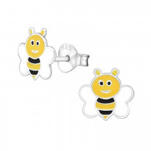 Bee Sterling Silver Ear Studs - pixi-daisy