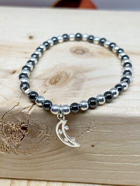 Love You to the Moon & Back Sentiment Bracelet