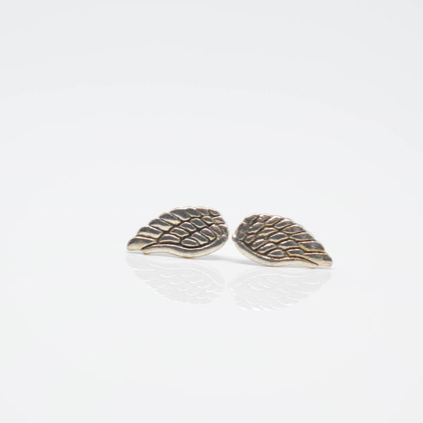 angel wing stud earrings - Pixi daisy