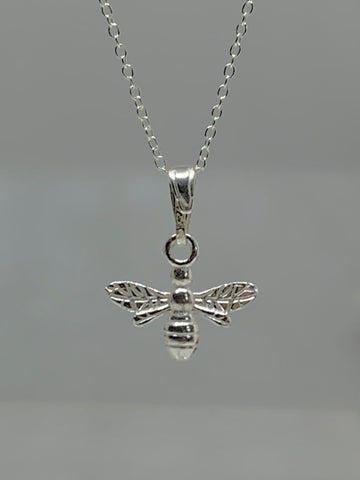 Silver Bee Necklace from Pixi Daisy