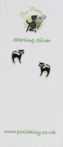 Black Cat Ear Studs - Pixi Daisy