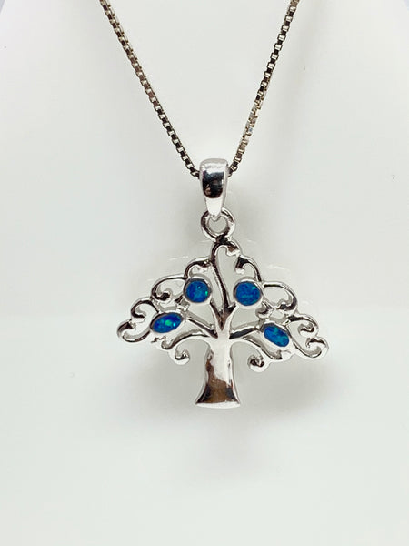 Blue Opal Tree Pendant from Pixi Daisy