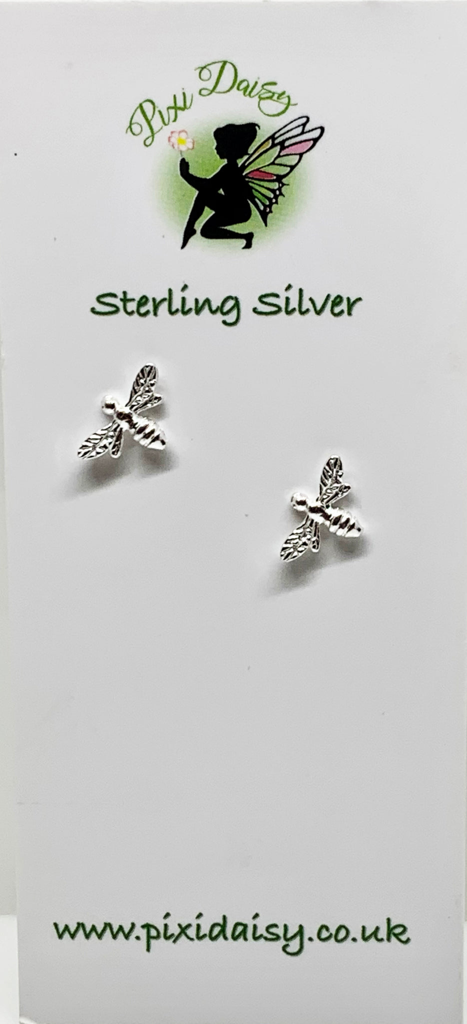 Silver Bee Studs from Pixi Daisy