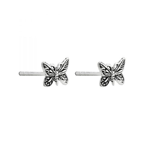 Butterfly Sterling Silver Stud Earrings - pixi-daisy