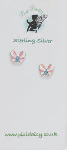 Colourful Butterfly Ear Studs - Pixi daisy