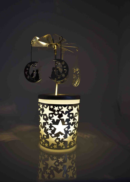Cat & Moon Tealight Carousel - Pixi Daisy