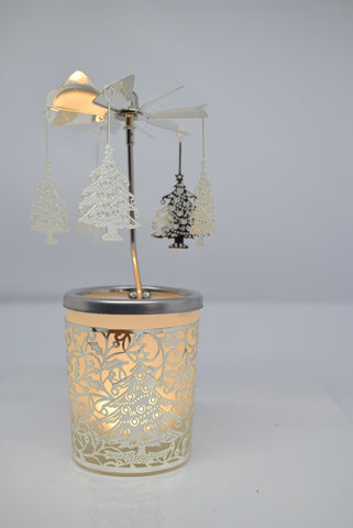 Christmas Tree Carousel Tea Light Holder - Pixi Daisy
