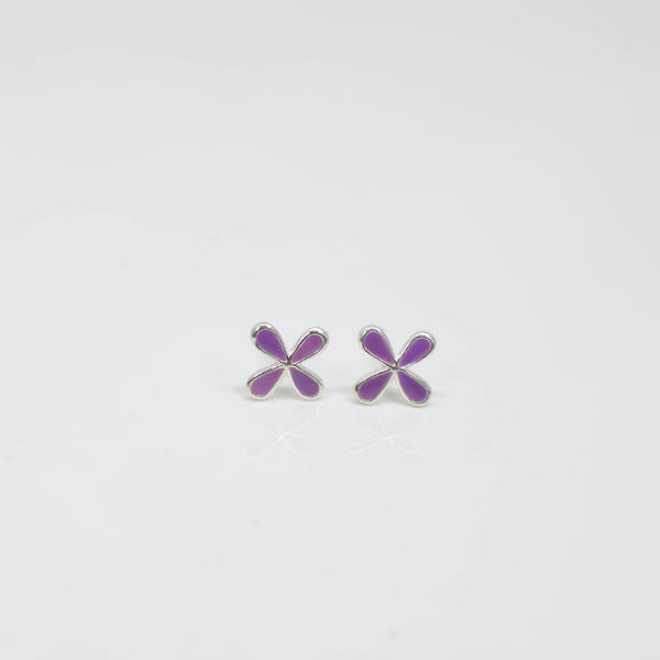Purple clover ear studs - Pixi Daisy