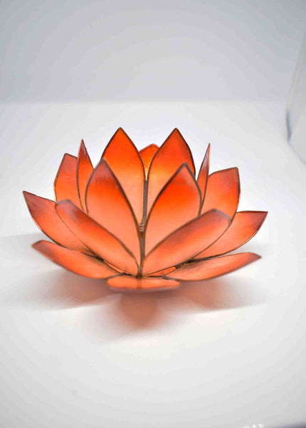 Copper Lotus Flower Tea Light Candle Holder - Pixi daisy