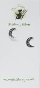 Crescent Moon Ear Studs - Pixi Daisy