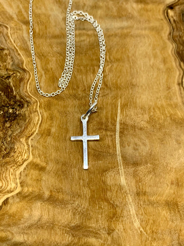 Small Sterling Silver Cross from Pixi Daisy