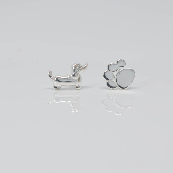 Dog & Paw Ear Studs - Pixi Daisy