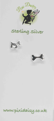 Dog & Bone Ear Studs - Pixi Daisy