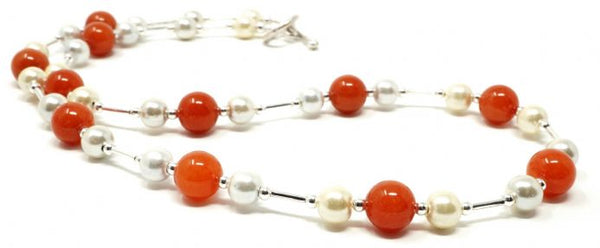 Ronin Jewellery Emily Burnt Orange necklace - pixi daisy