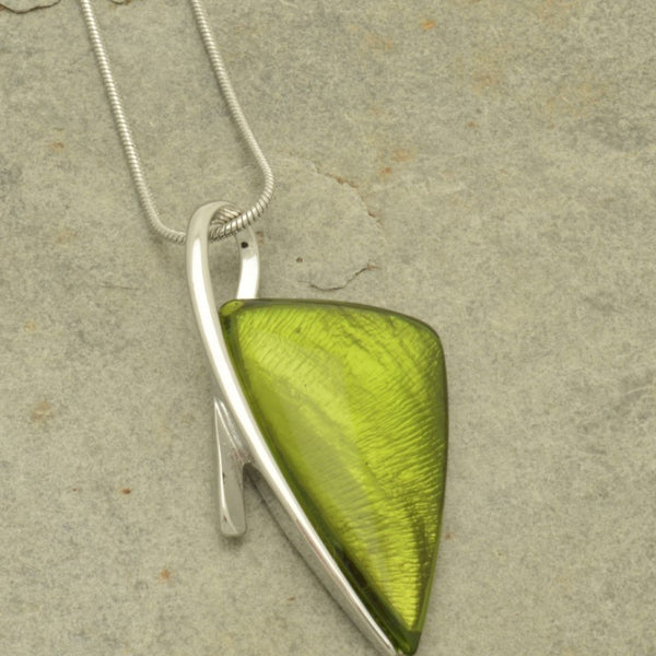 Miss Milly Green Arrow Necklace