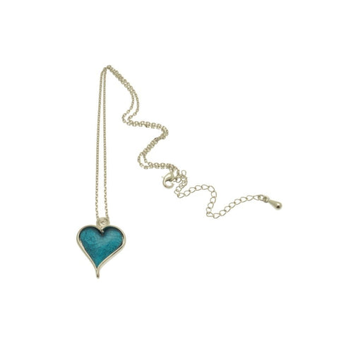 Miss Milly Aqua Heart Necklace