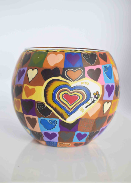 Heart - Globe Tea Light Candle Holder - Pixi Daisy