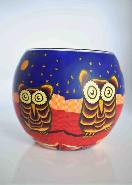 Owls Globe Tea Light Candle Holder -Pixi Daisy