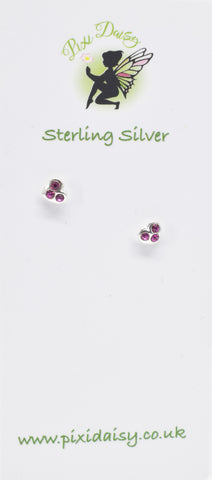 red crystal heart ear studs - Pixi daisy