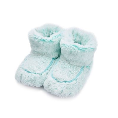 microwaveable mint boots by Warmies from Pixi Daisy