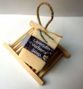 Lavender Verbena Soap on a Rope from Pixi Daisy