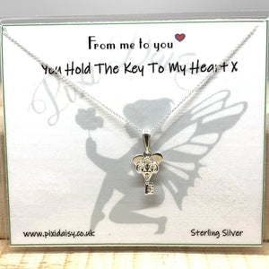 You Hold the Key to my Heart Sentiment from Pixi Daisy