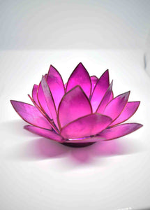 Lilac Lotus Flower Candle Holder - Pixi Daisy