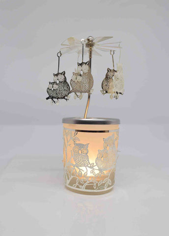 Double Owl Tea Light Carousel - Pixi Daisy