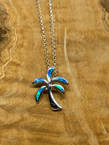 Blue Opal Palm Necklace from Pixi Daisy