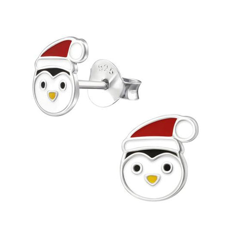 Christmas Penguin Ear Studs - pixi-daisy