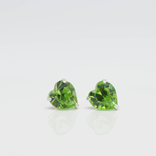 Green Crystal Ear Studs - Pixi Daisy