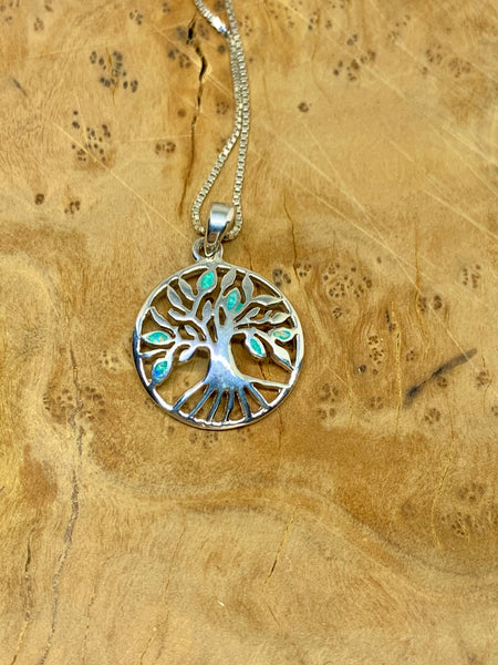 Green Opal Tree of Life Pendant from Pixi Daisy