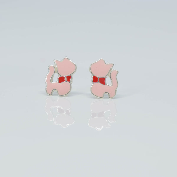 Pink Cat ear Studs - Pixi daisy