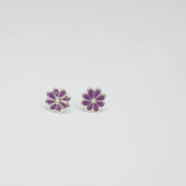 purple flower ear studs - Pixi daisy