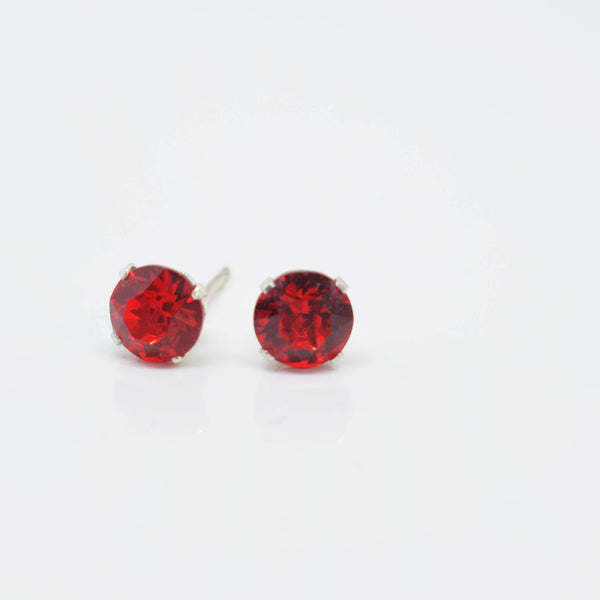 Light Siam Ear Studs - Pixi Daisy
