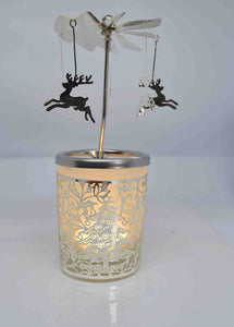 Reindeer Carousel Tea Light Holder - Pixi Daisy